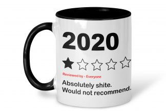 2020 review mug on a white background