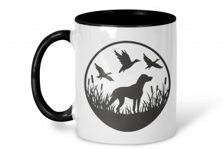 duck hunting mug on a white background